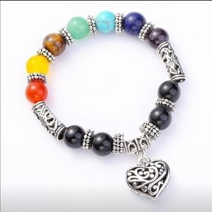 Chakras Reiki Treatment Stone Balance Bracelet.